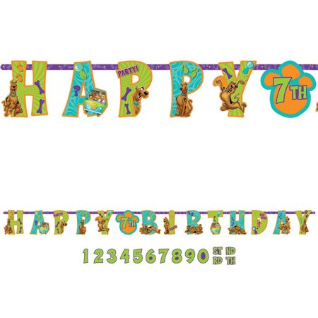 Scooby Doo Add-An-Age Letter Banner (Each) - Party Supplies for $<!---->
