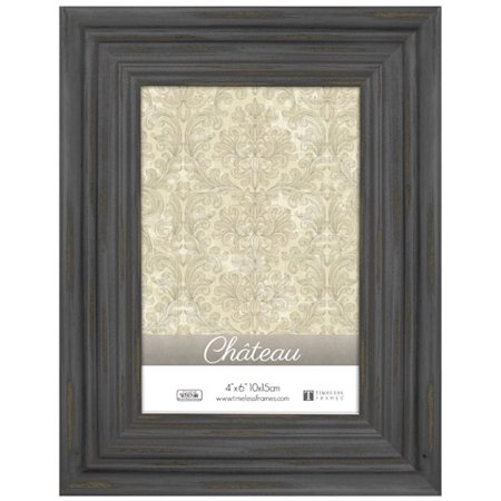 Timeless Frames Chateau Distressed Picture Frame - Black - 4 in x 6 - 4 X 6 Frames