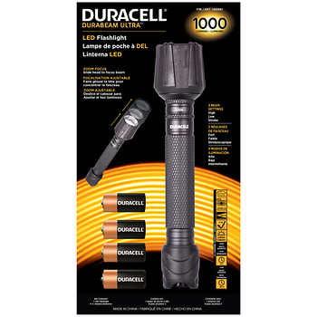 Duracell Durabeam Ultra LED Flashlight 1500 Lumens Zoom Focus 4 Beam Settings