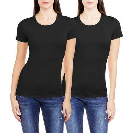 9bf79c30 White Stag - Women's Essential Short Sleeve Scoopneck T-Shirt, 2 Pack Value  Bundle - Walmart.com