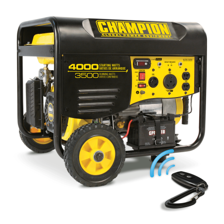 Champion 46565 3500-Watt RV Ready Portable Generator with Wireless Remote Start (EPA)