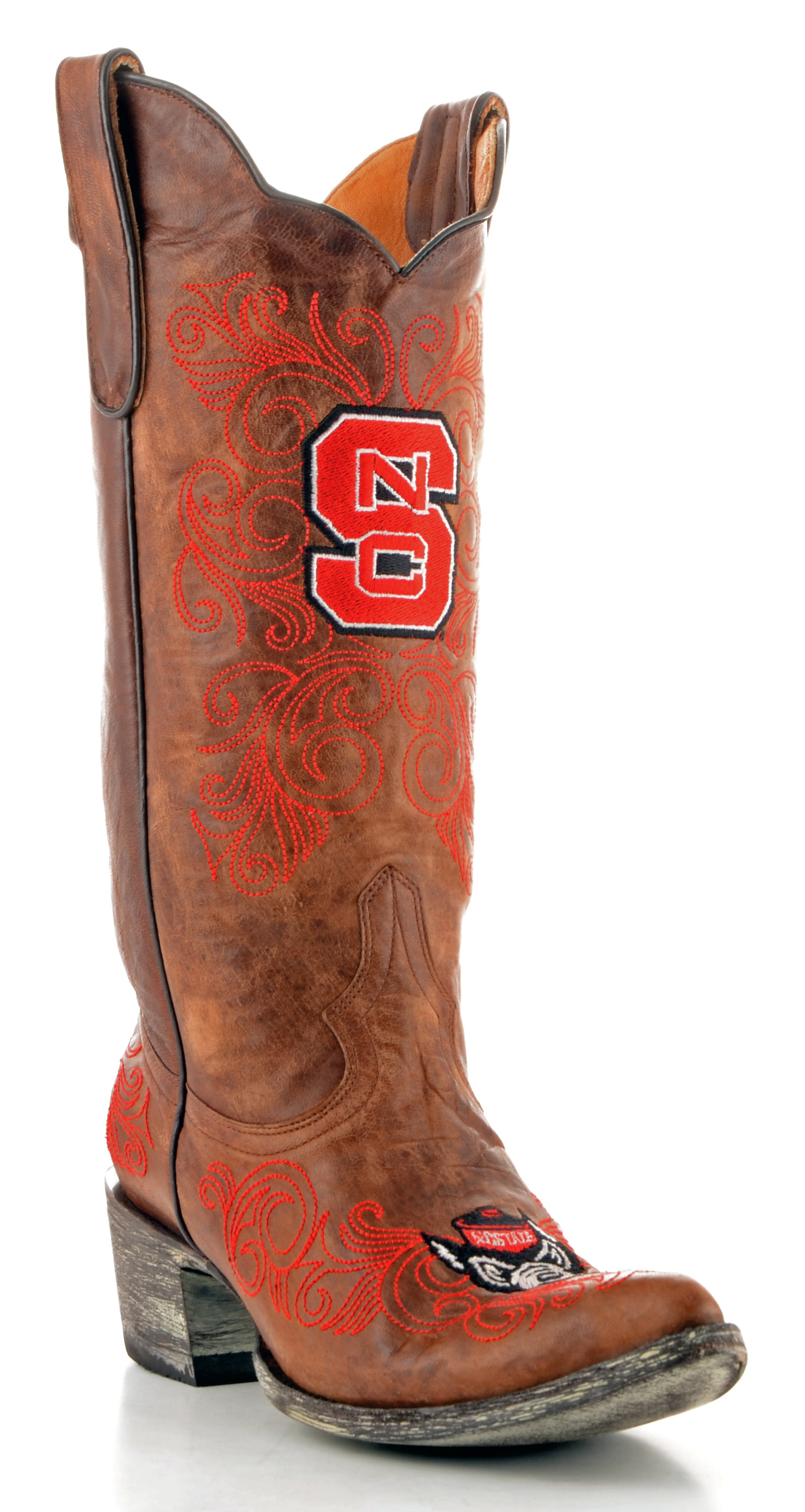 "Gameday Boots Womens 13"" Tall Leather N Carolina State Cowboy Boots by GameDay Boots"