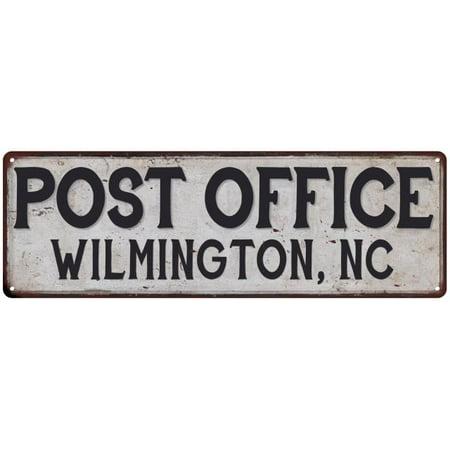 WILMINGTON, NC POST OFFICE Vintage Look Metal Sign Chic Retro 6182302 (Halloween Stores Wilmington Nc)