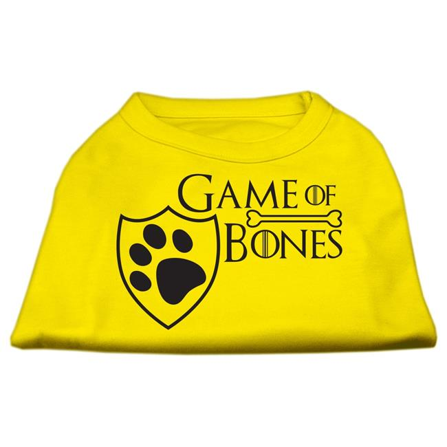 Game Of Bones Screen Print Dog Shirt Yellow Sm (10) - image 1 de 1