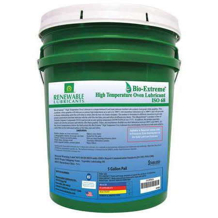 Cutting Oil,5 gal,Bucket RENEWABLE LUBRICANTS 86804