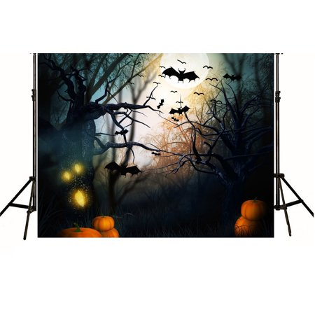 HelloDecor Polyester Fabric 7x5ft Halloween Theme Photography Background](Desktop Backgrounds Halloween Theme)