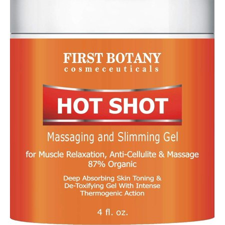 Hot Shot Slimming Gel and Massaging Gel 4 fl. oz Great for Muscle Relaxation and Massage Best Anti Cellulite Cream With Intense Thermogenic (Best Drugstore Anti Cellulite Cream)