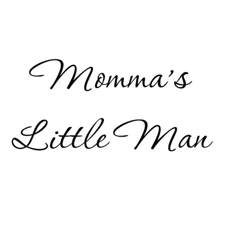 VWAQ Momma's Little Man Nursery Wall Decals Cute Baby Quote Vinyl Nursery Wall Qutoes for Boys