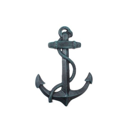 Seaworn Blue Cast Iron Anchor 17