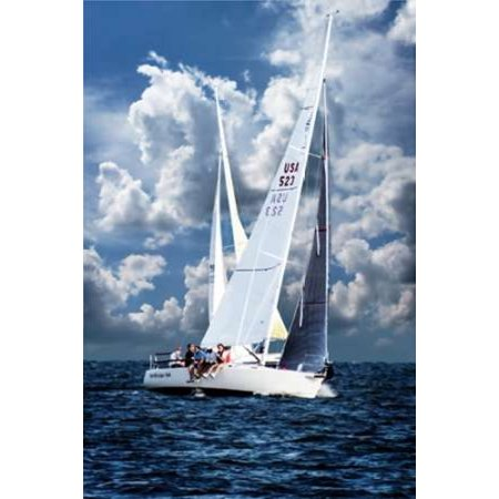 Crossing Sailboats Poster Print by Alan