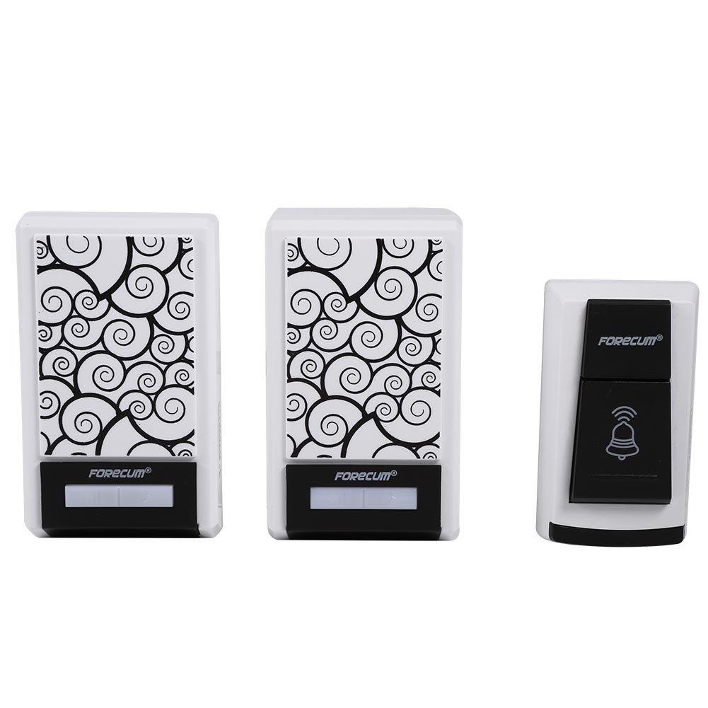 Dilwe Music Doorbell,Music Wireless Cordless 1pcs Remote Control 2pcs Doorbell Receiver Home Security
