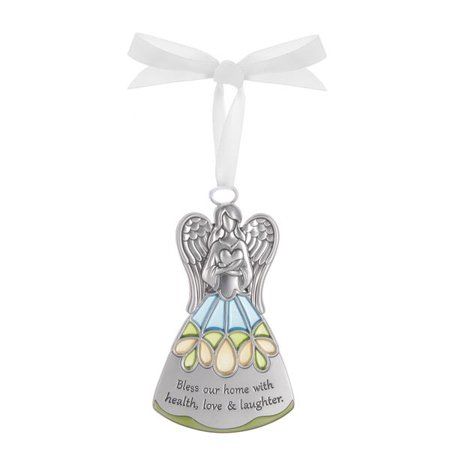 Bless Our Home With Health Love and Laughter - Guardian Angel Ornament by