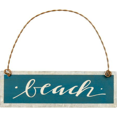 Set of 6 - Tin Ornament - Beach