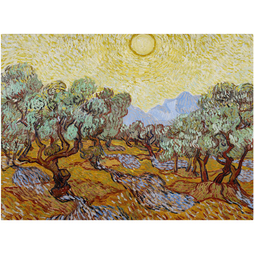 "Trademark Fine Art ""Olive Trees"" 1889 Canvas Art by Vincent van Gogh"