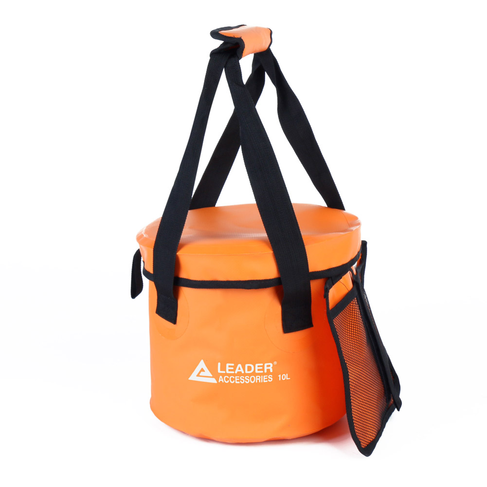 Leader Accessories 10L 16L 23L Lightweight & Durable Portable Collapsible Bucket Folding Water Container Wash Basin with Lid for for Camping Travel Hiking and Gardening