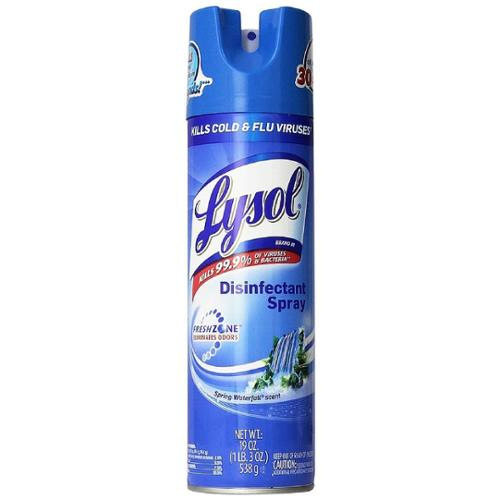 LYSOL Disinfecting Spray, Spring Waterfall 19 oz (Pack of 3)