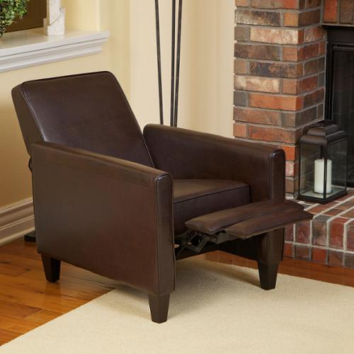 Pierce Leather Recliner Club Chair