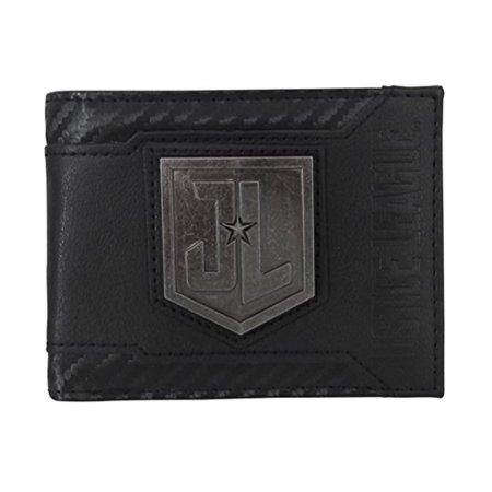 Justice League Movie Metal Logo Men's Bi-Fold Wallet](Justice Bags)