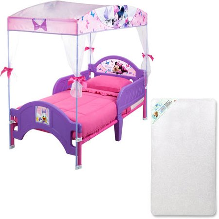 Disney or Nickelodeon Canopy or Tent Toddler Bed with Mattress Canopy Toddler Bed