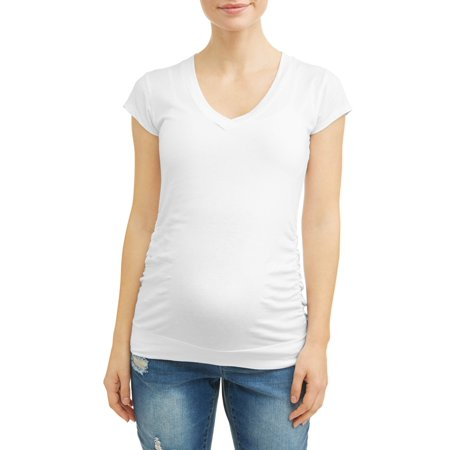 Oh! MammaMaternity v-neck tee - available in plus sizes (Marine Maternity Shirts)