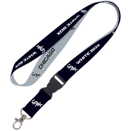 Chicago White Sox Lanyard W/ Detachable Buckle - Black