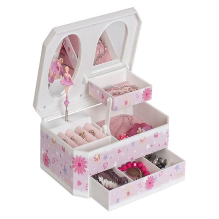 Mele & Co. Hayley Glittery Musical Ballerina Jewelry - Tabletop Jewelry Box