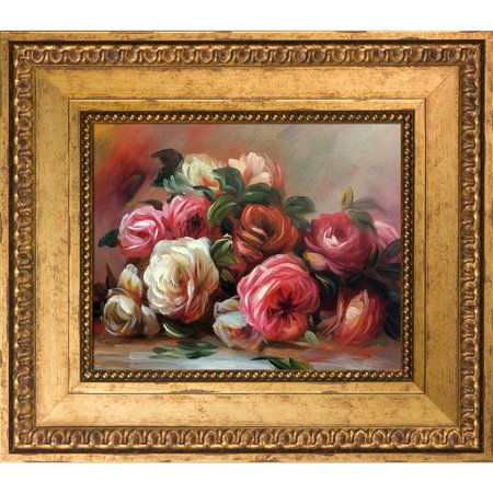 La Pastiche Pierre-Auguste Renoir 'Discarded Roses' Hand Painted Oil Reproduction