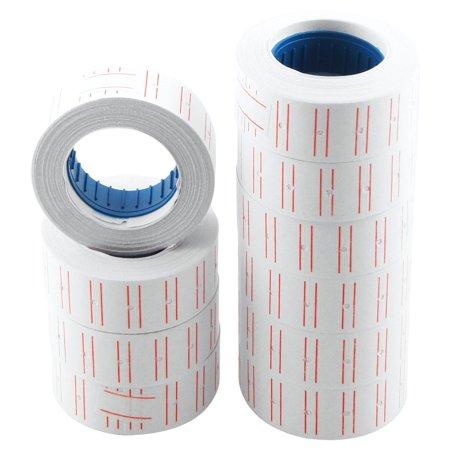 Unique Bargains 10 Rolls Market Price Marking Self-adhesive Base Design Label -