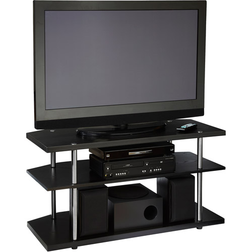 "Designs 2 Go Black Corner TV Stand, for TVs up to 46"" by Convenience Concepts"