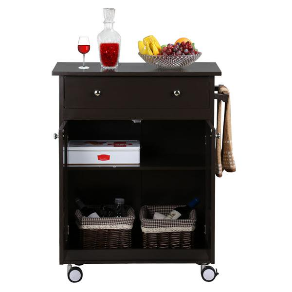 yaheetech wood single drawer kitchen cabinet storage