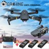 """Eachine E58 WIFI FPV 6 Axis HD Camera RC Drone 2MP/0.3MP FLY MORE COMBO Foldable Arm Quadcopter High Hold & Headless Mode Gifts Toys Kid Adult Descriptions:Brand Name: EachineItem NO.: E58Color: BlackFrequency: 2.4G Channel: 4CHGyro: 6 AxisQuadcopter Battery: 3.7V 500mAh Lipo (Included)Transmitter Battery: 3 x 1.5 AA Batteries (NOT Included)Charging Time: 60-70minsFlying Time: 7-9minsR/C Distance: 80-100m Folding Size: 27x19.5x5cm/ 10.63x7.68x1.97""""Unfold Size: 12.5x7.5x5cm/ 4.92x2.95x1.97""""Package Weight: 360gFeatures:With foldable arms, small size, easy to carry.With altitude hold mode function provides stable flight.With wifi function can be connected APP, APK system to take pictures, video, real-time transmission through the phone camera image.There have 2 cameras can be choose. With 2.0MP 720P wide angle camera give wide range high denfinition pictures and video.With Headless Mode, no need to adjust the position of aircraft before flying.With One key to return function makes it easily to find the way home.2.4GHz Technology Adopted for Anti-Interference.4 Channel which can do ascend, descend, forward, backward, left sideward fly, right sideward fly and rolling 360°.6-axis gyro which can have more stable flying and be easy to control.It have 3-level flight speed to switch that can make more fun with the flying.The quadcopter fuselage is made of high strength and resistant engineering plastics,lightweight and durable resistance.Function: Up/down, Forward/backward, Turn left/right, Sideward flight, 3-level flight speed, LED Light, Headless Mode, One Key Automatic Return, Altitude Hold Mode, WiFi FPV1-3 Battery(ies) RC Quadcopter PACK Package Included:1 x Eachine E58 RC Quadcopter1 x Transmitter1-3 x 3.7V 500mAh Lipo Battery(ies) (According to the version you choose)1 x USB Charging Cable4 x Protection Cover4 x Spare Blades1 x Screwdriver1 x User Manual--------------------------------------------------------------------Charger + 3 Batteries COMBO PACK Package Included"""