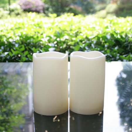 Flameless LED Candles Battery Operated Outdoor Indoor Flickering Pillar Candles with Timer Water Resistant Long Lasting Candle Lights for Wedding Party Centerpiece Home Garden Decorations 3
