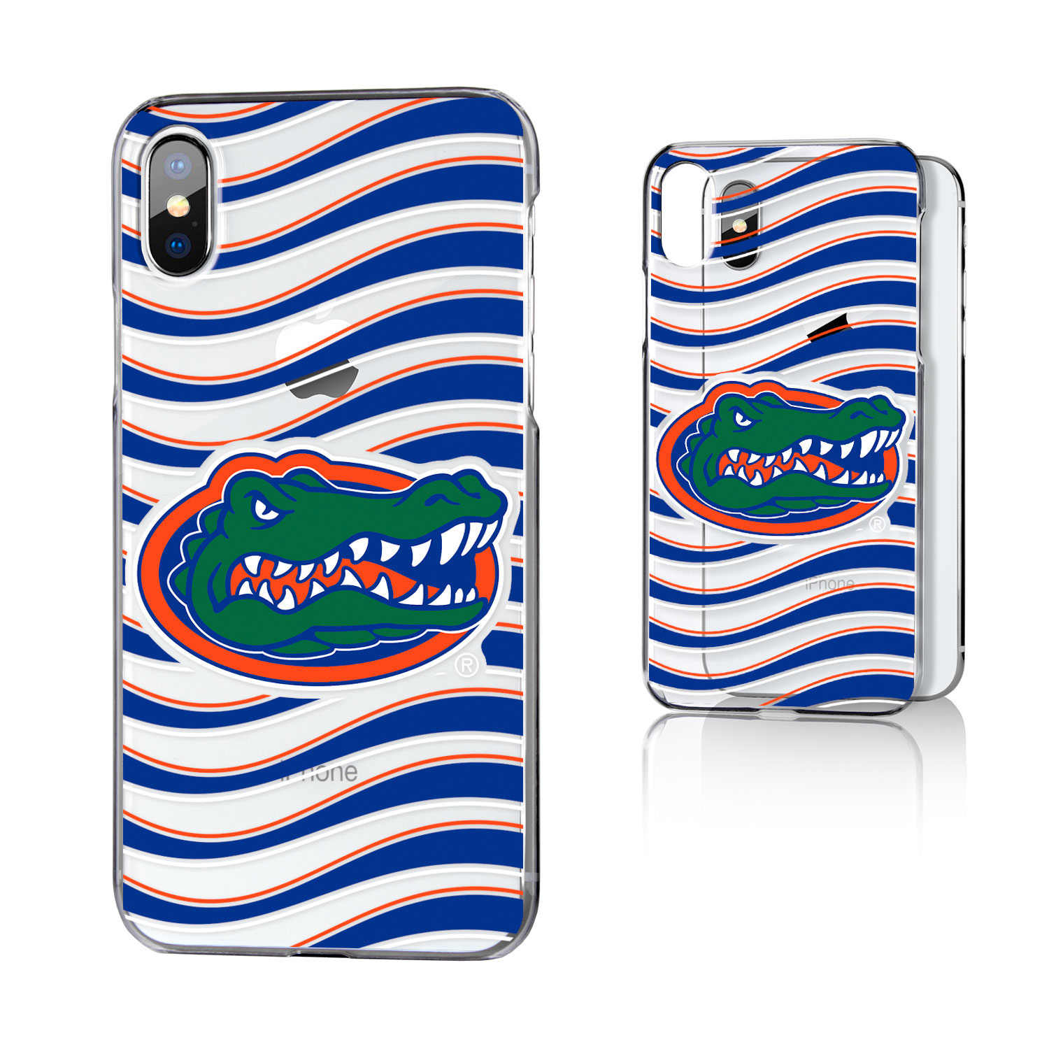 UF Florida Gators Wave Clear Case for iPhone X