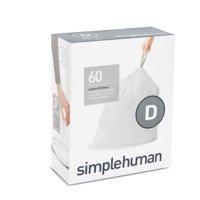 simplehuman Code D Custom Fit Liners, 20 Liter / 5.2 Gallon, 60 Count