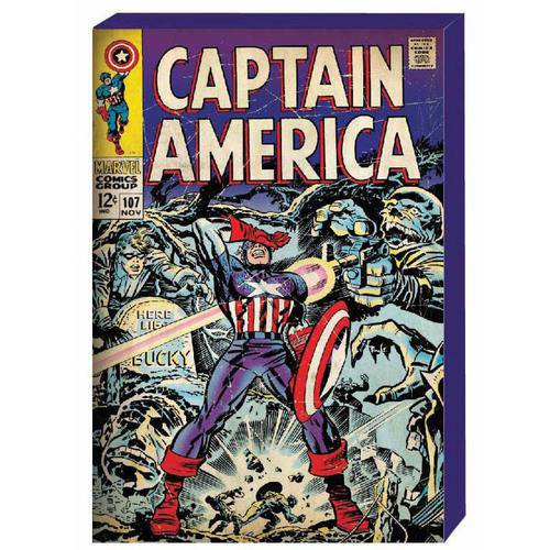 Captain America Retro Comic Book Cover MDF Box Art