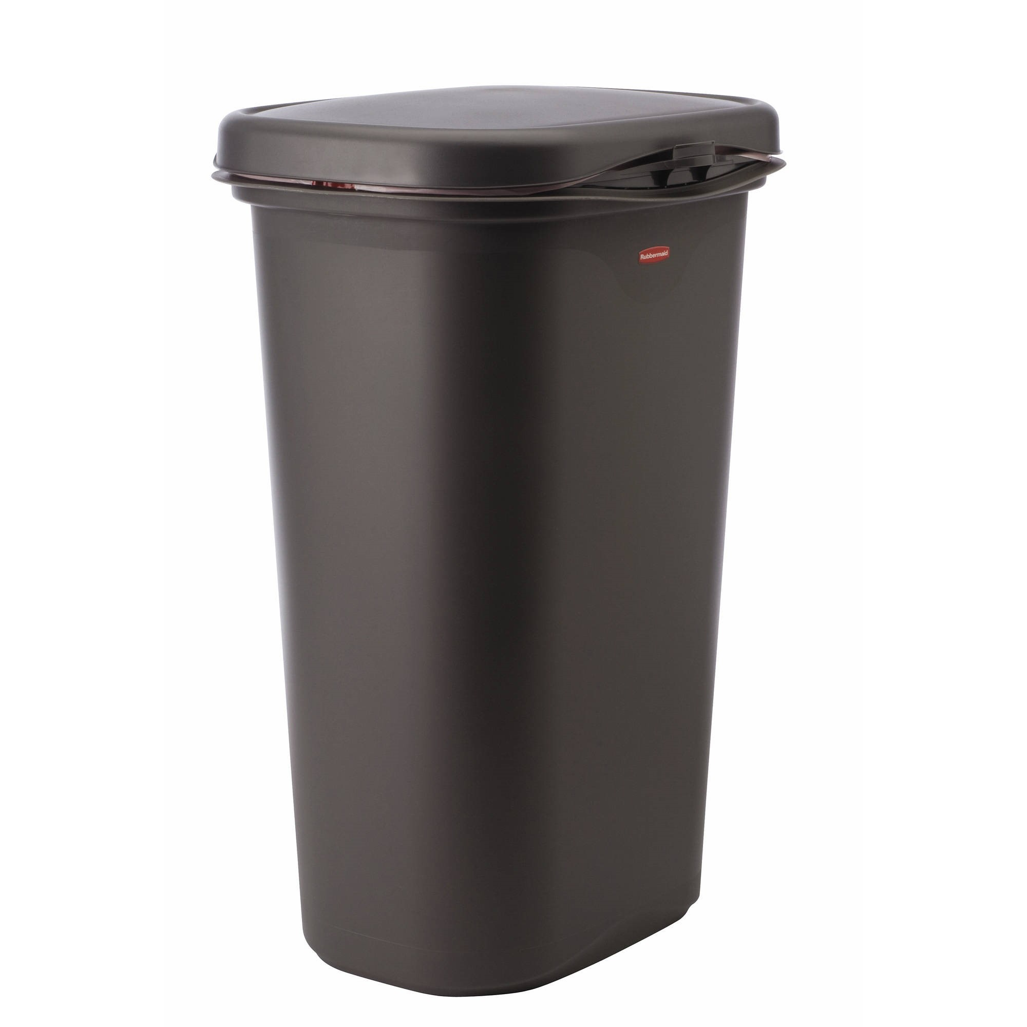 rubbermaid linerlock spring top trash can 13 gal cashmere. Black Bedroom Furniture Sets. Home Design Ideas