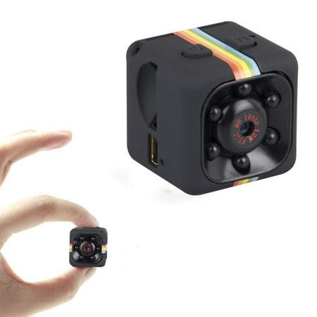 GLiving Mini Camera Body Camera Security Camera Surveillance Video Recorders Nanny Cam 1080P HD Portable Camera Meeting Home Office Sports Camera, Black for Home/Surveillance/Car/Drone/Office -