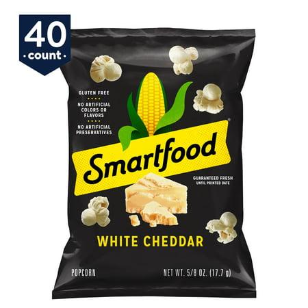 Smartfood White Cheddar Flavored Popcorn, 0.625 oz Bags, 40