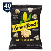 Smartfood White Cheddar Flavored Popcorn, 0.625 oz Bags, 40 Count