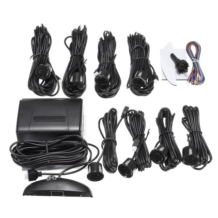 LCD Car Parking Sensor Rear Reverse Backup Radar Alarm Kit System w/ 8 Sensors - image 10 de 10