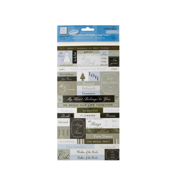 Bulk Buys CG677-48 Fresh Verse Wedding Cardstock Stickers