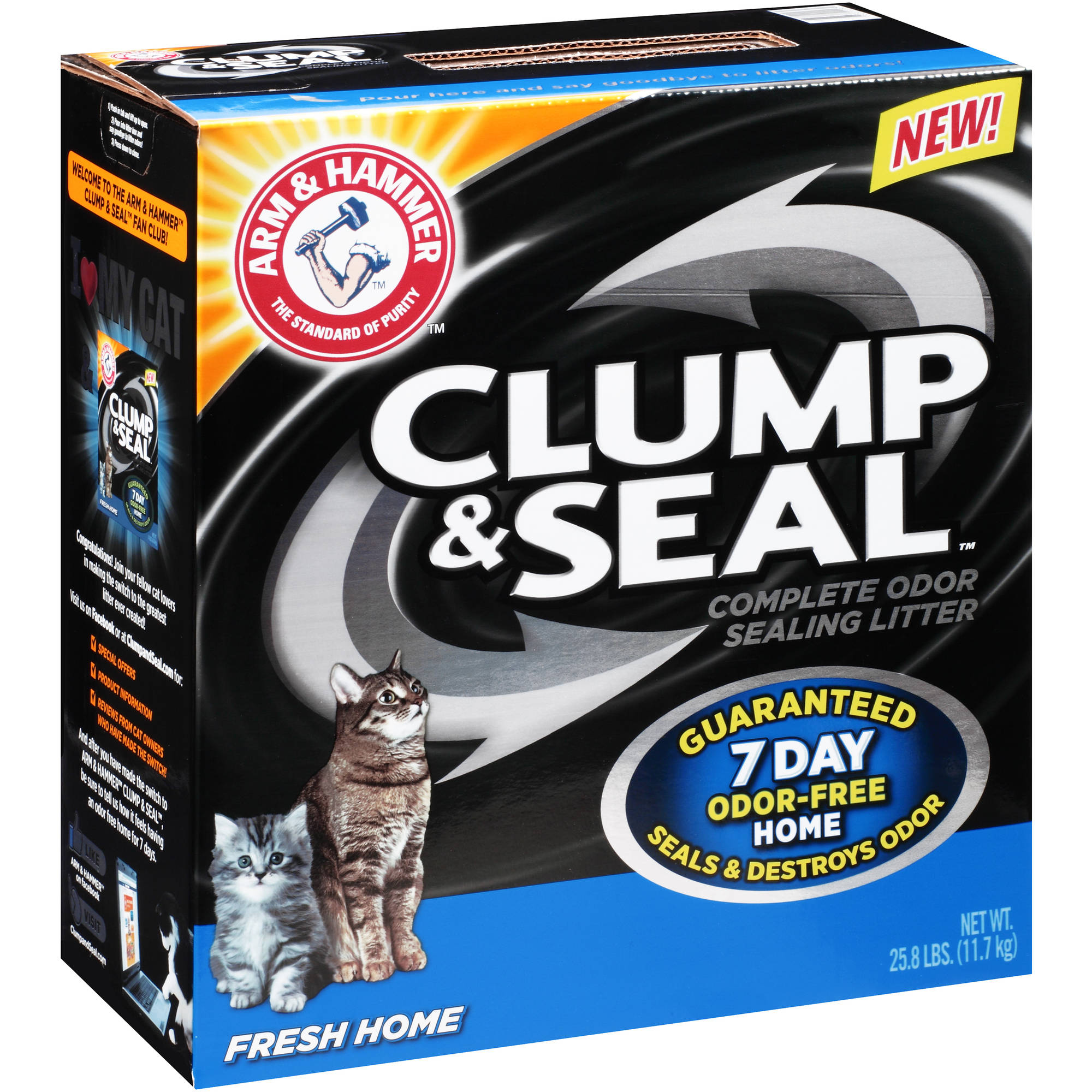 Arm & Hammer Clump & Seal Fresh Home Complete Odor Sealing Cat Litter 25.8 Lb. Box
