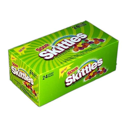 SOURS SKITTLES Bite Size Candy: 24 CT
