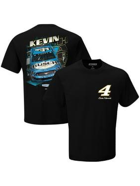 Men's Checkered Flag Black Kevin Harvick Busch T-Shirt