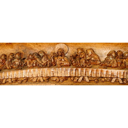 Last supper sculptures carving on wall, Vigan, Ilocos Sur, Philippines Print Wall Art ()
