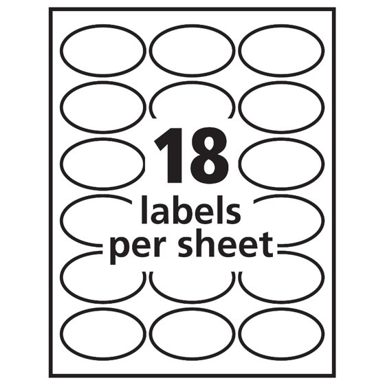 Avery Oval Easy Peel Labels 1 12 X 2 12 Matte White 270pack