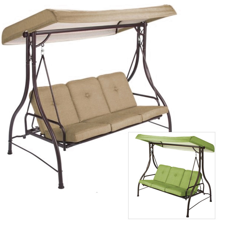 Garden Winds Replacement Canopy Top for the Lawson Ridge 3-Person Swing - Walmart.com  sc 1 st  Walmart : canopy swing - afamca.org
