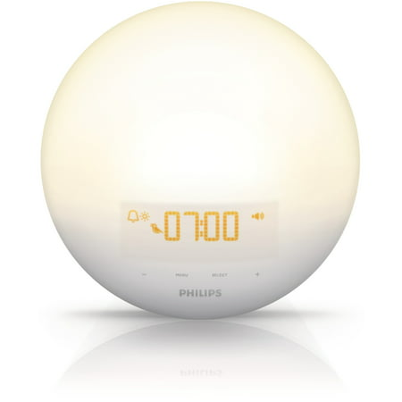 Sunrise Alarm Clock Light - Philips Wake-Up Light Therapy with Sunrise Simulation Alarm Clock and Sunset Fading Night Light, White, HF3510/60
