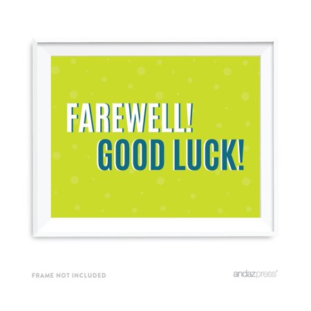 Farewell Retirement Party Decorations, Farewell! Good Luck!, Party Sign, 8.5x11-inch