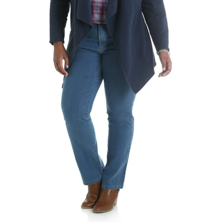 - Women's Plus Size Simply Comfort Straight Leg Jean